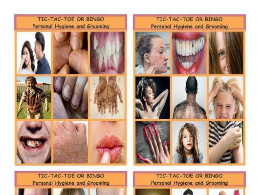 Personal Hygiene-Grooming Tic-Tac-Toe-Bingo Game