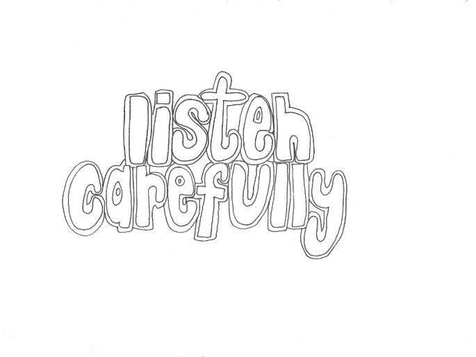 Listen Carefully (Classroom Rules) Colouring Page