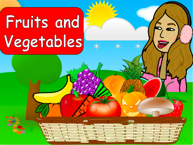 Fruits and Vegetables game - Animated Powerpoint