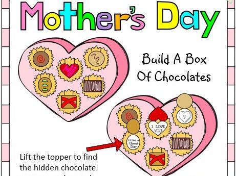Mother's Day Crafts - Build A Box of Chocolates