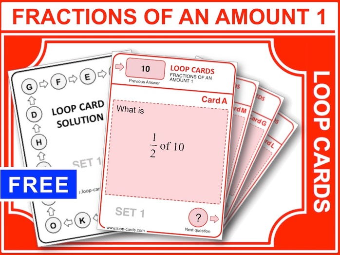 Fractions of an Amount 1 (Loop Cards)
