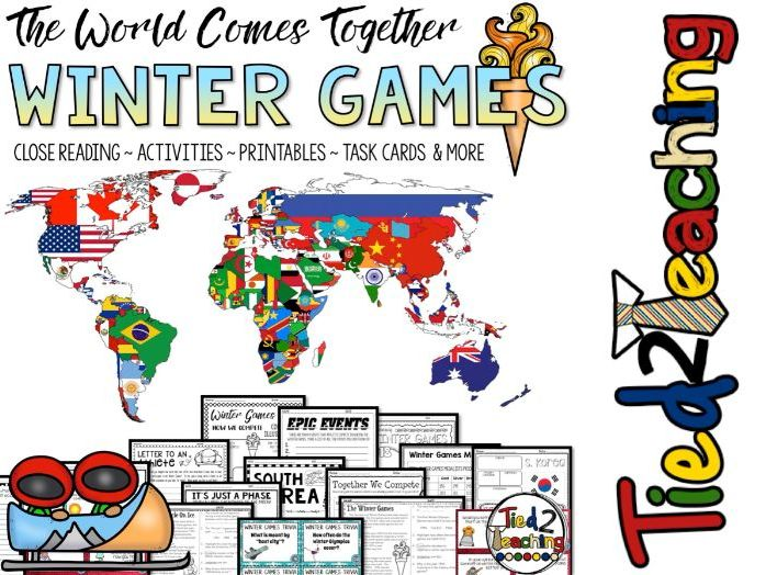 Winter Olympics 2018 Unit and Activities