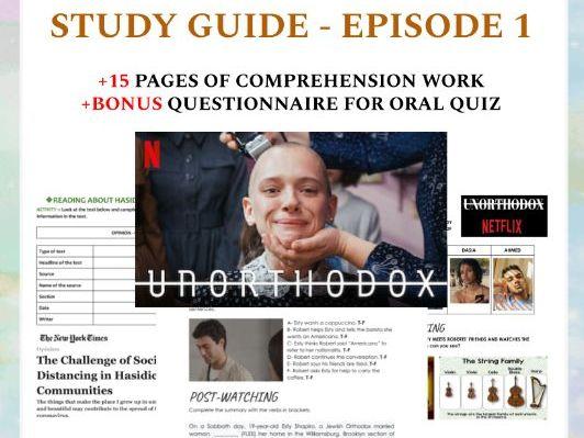 Unorthodox on Netflix - Study Guide (episode 1)