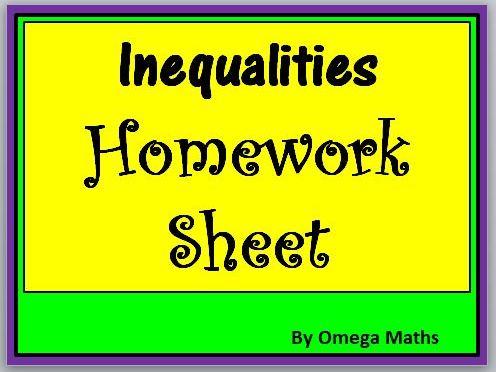 Inequalities Homework Sheet