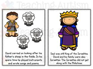 David & Goliath Bible Story Flashcard Story
