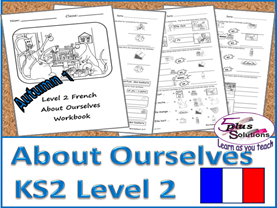 Primary French COPIABLE PUPIL WORKBOOK:Level 2 About Ourselves (Autumn 1)
