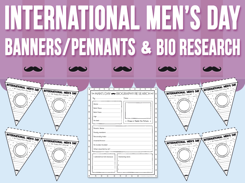 International Men's Day - Banners / Pennants and Biography Research
