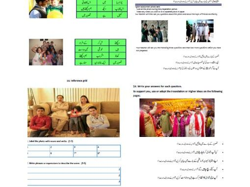 GCSE Urdu Speaking Booklet 2017-18