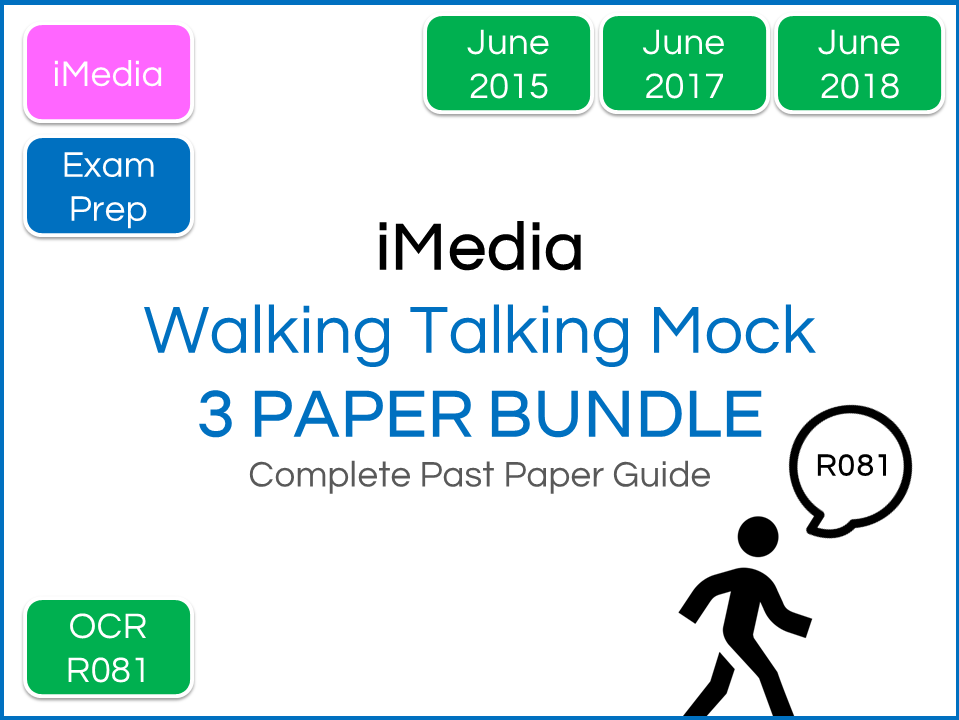 iMedia R081 Exam -  Walking Talking Mock (3 Paper Bundle)