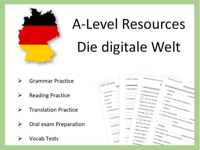 AS German - Die digitale Welt - Practice and Revision Worksheets