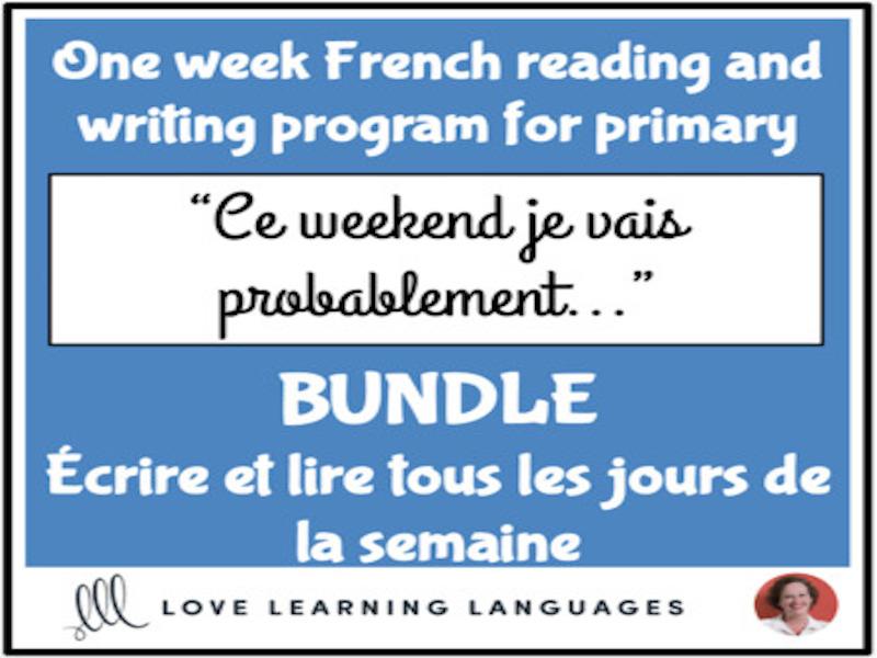 Lire et écrire tous les jours #2 - French primary reading and writing BUNDLE