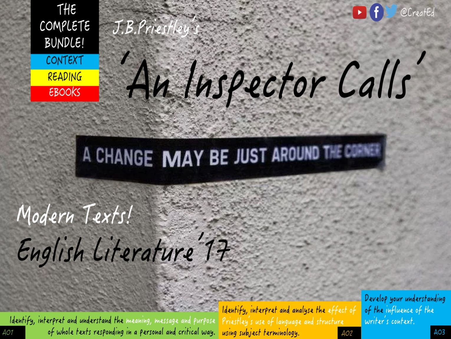 An Inspector Calls, COMPLETE BUNDLE! 6 -7 x Weeks TEACHING & 7 Indepedent Study Guides (ebooks.)