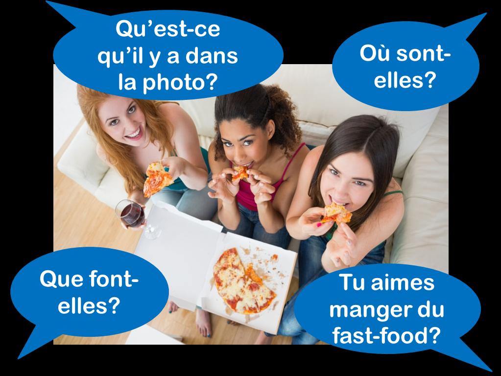 GCSE French foundation photo card practice