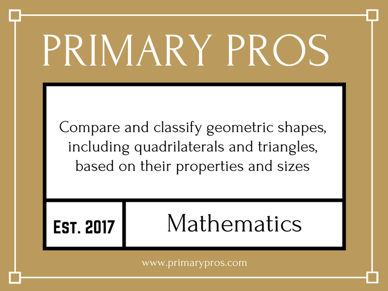 Compare and classify geometric shapes, including quadrilaterals and triangles, based on their proper