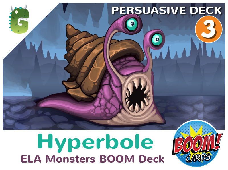 Hyperbole Boom Cards (Persuasive Language - Deck 3)