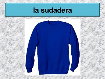 Ropa (Clothing in Spanish) power point