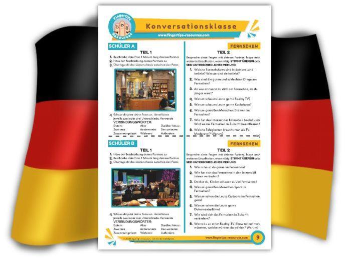 Fernsehen - German Speaking Activity