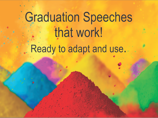 Graduation Speech:  What are you thankful for?