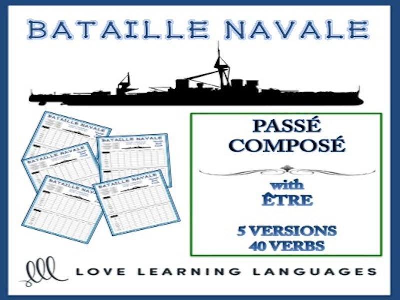 GCSE FRENCH: Bataille Navale - Passé Composé with Être