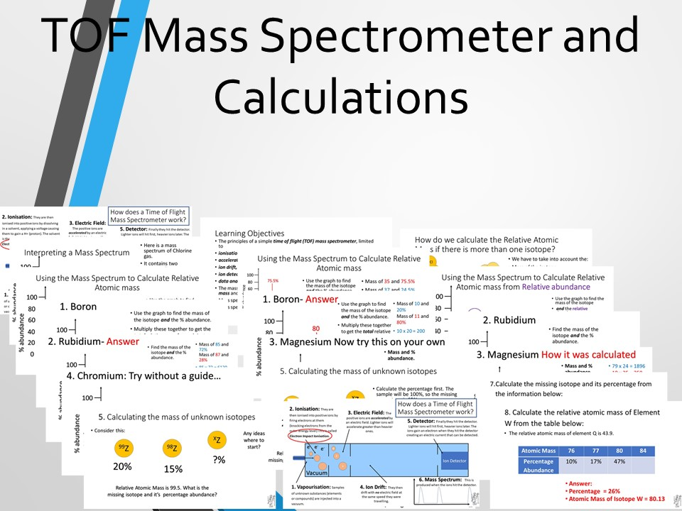 Mass Spectrometer TOF and Isotope Calculations