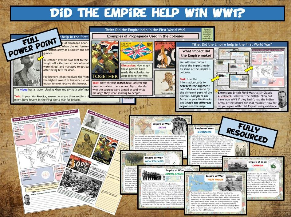 WW1 L11 - The British Empire in WW1