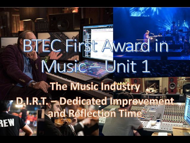BTEC First Award in Music - Unit 1 Personal Learning Checklists (PLC) and Analysis Tool