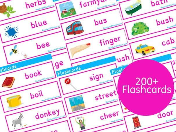 Key Stage 1 Phonics 200+ Flashcards with Pictures | Phonics Resources Year 1 Year 2 | Phonics Bundle