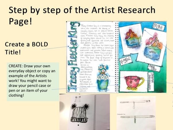 Artist Research: Understanding what Is an Artist research Page and drawing objects from Everyday!