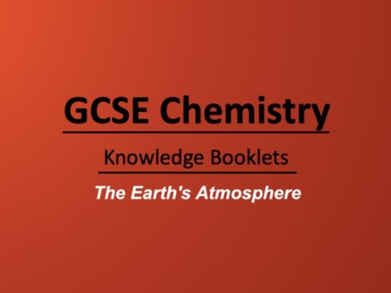 The Earth's Atmosphere Knowledge Booklet