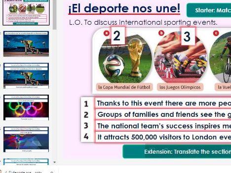 GCSE Spanish Viva Module 8 El deporte nos une