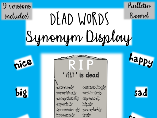 DEAD WORDS - synonym poster set