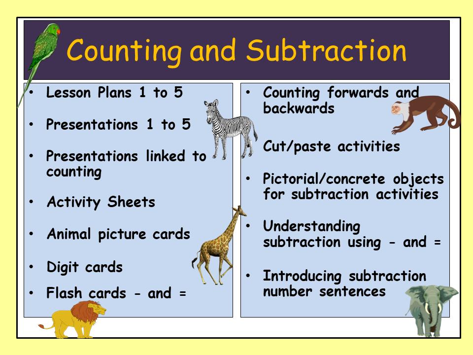 Subtraction Taking Away Worksheets Activities Presentations  EYFS/KS1