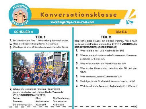 Die E.U. - German Speaking Activity