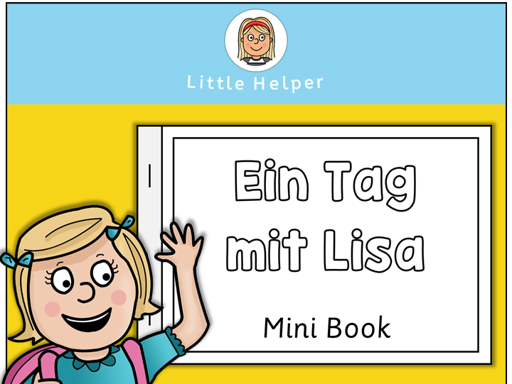 German Mini Book Daily Routine - Ein Tag mit Lisa