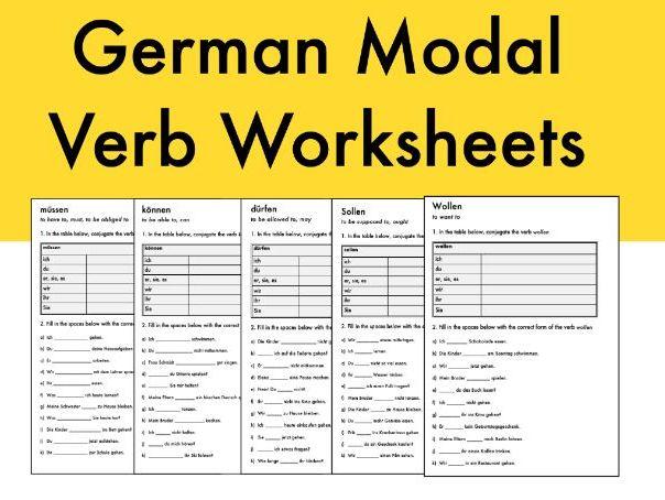 German Modal Verbs Worksheets