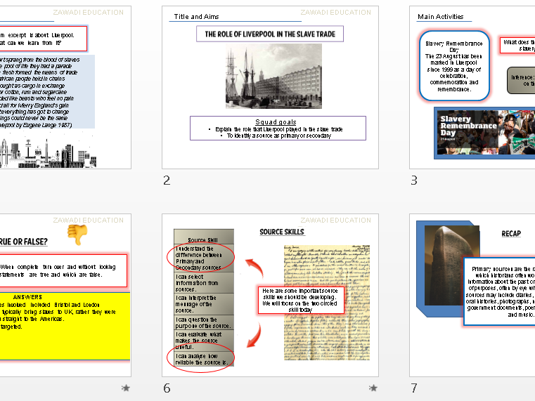 Liverpool and The Slave Trade (key stage 3 history)