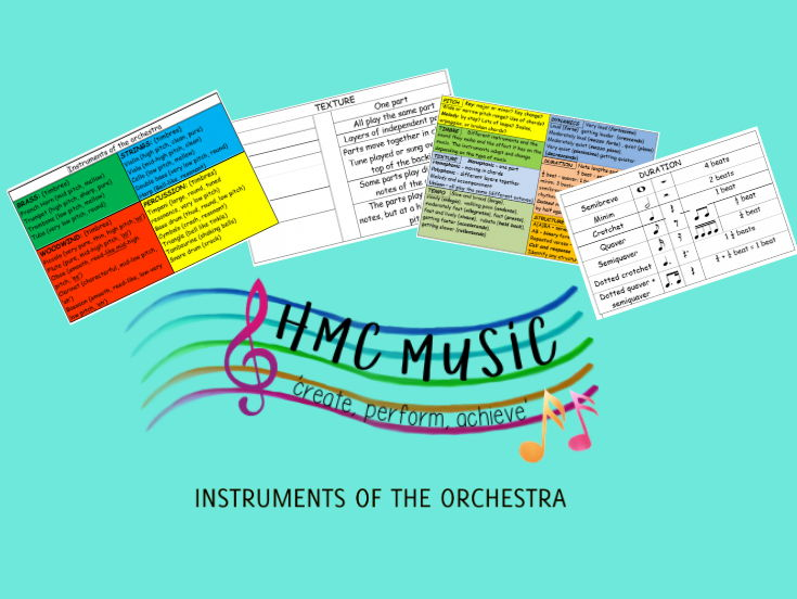 INSTRUMENTS OF THE ORCHESTRA LISTENING MAT