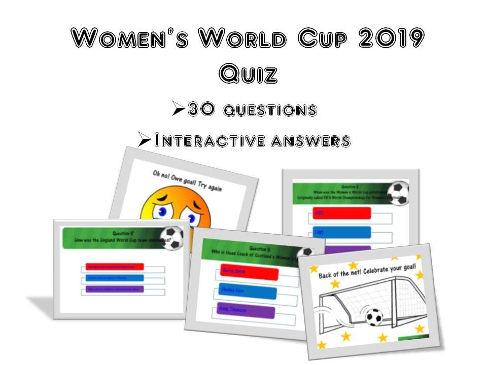 Women's World Cup 2019 Quiz