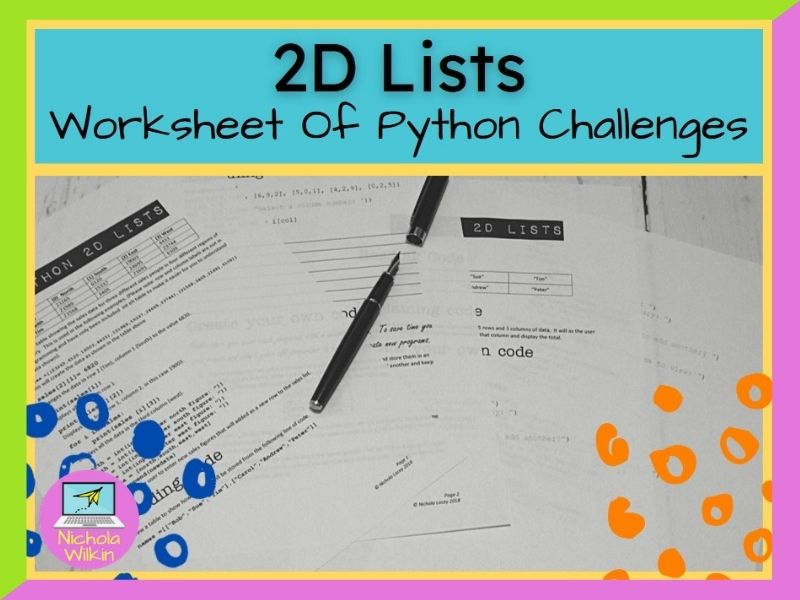 Python 2D lists