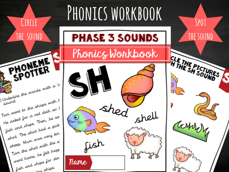 'Sh' Phonics Workbook