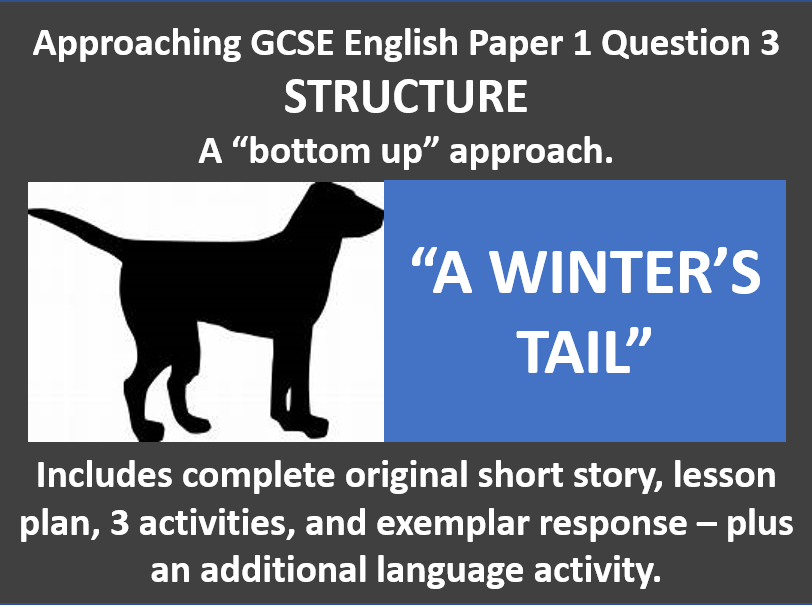 """Approaching GCSE English Paper 1 Question 3 STRUCTURE A """"bottom up"""" approach"""