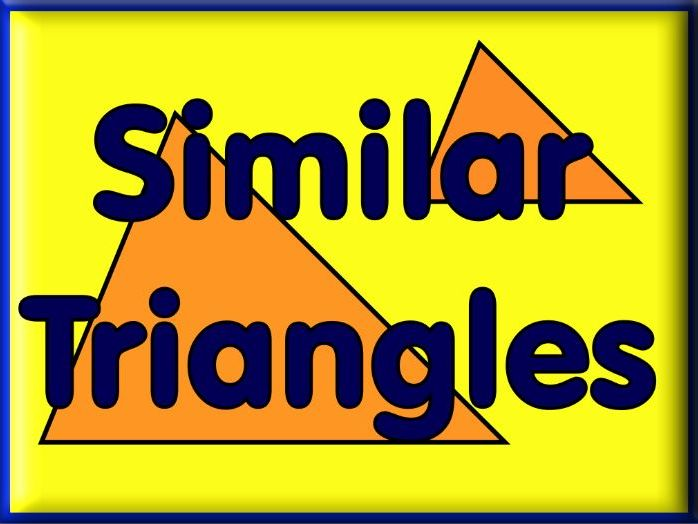Similar Triangles - 3 Worksheets with Answers