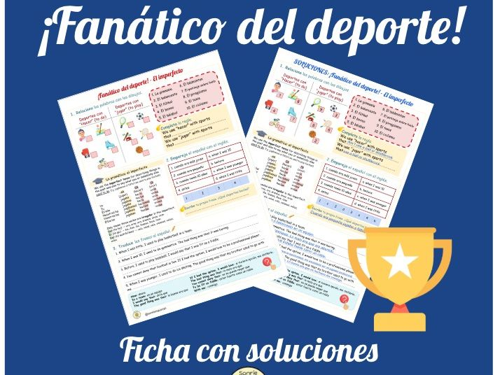 Fanatico del deporte- El imperfecto. Worksheet sports and imperfect. Viva GCSE