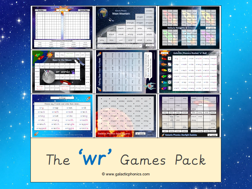 The 'wr' Phonics Games Pack