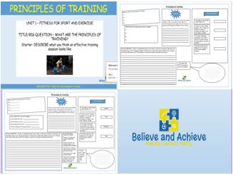 Principles of training- BTEC Sport level 2 Unit 1 (2018)