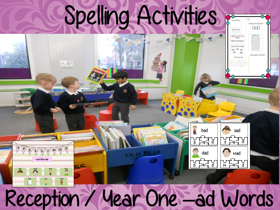 Spelling Activities for –ad Words Reception