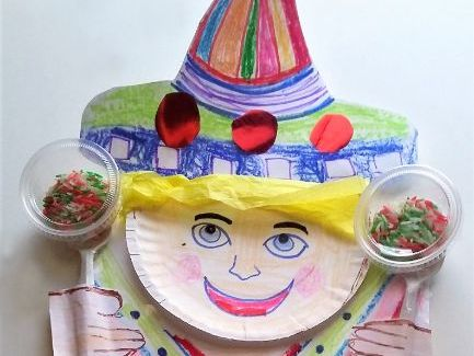 Cinco de Mayo Traditional Serape, Sombrero and Maraca Self Portrait