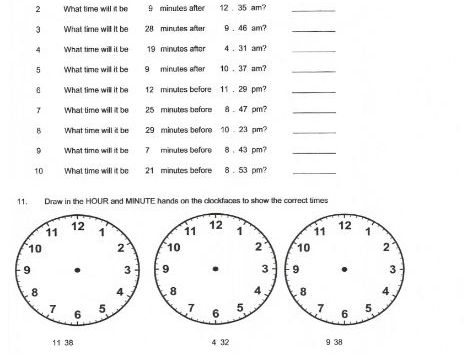 Time Worksheets - 12 hour and 24 hour