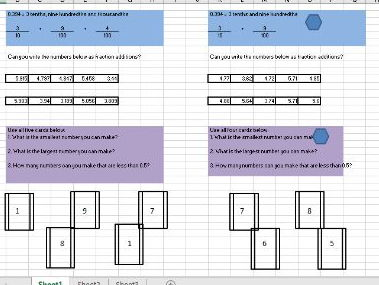 Year 5/Year 6 Compare, Partition and Round decimals. Fluency and reasoning questions differentiated