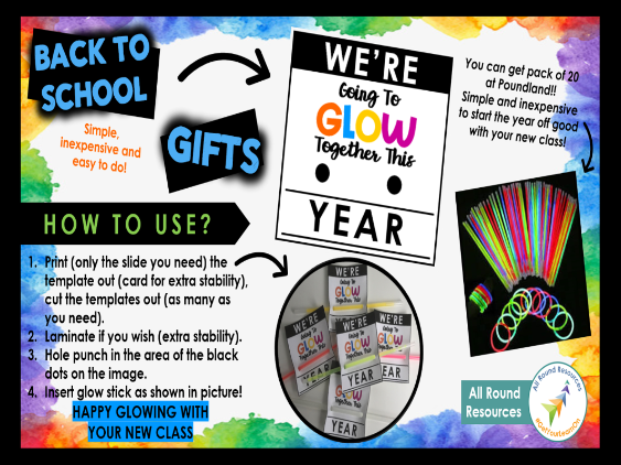 'WE'RE GOING TO GLOW TOGETHER THIS YEAR!' | Back To School Gift - Ready to go! | #GetYourLearnOn